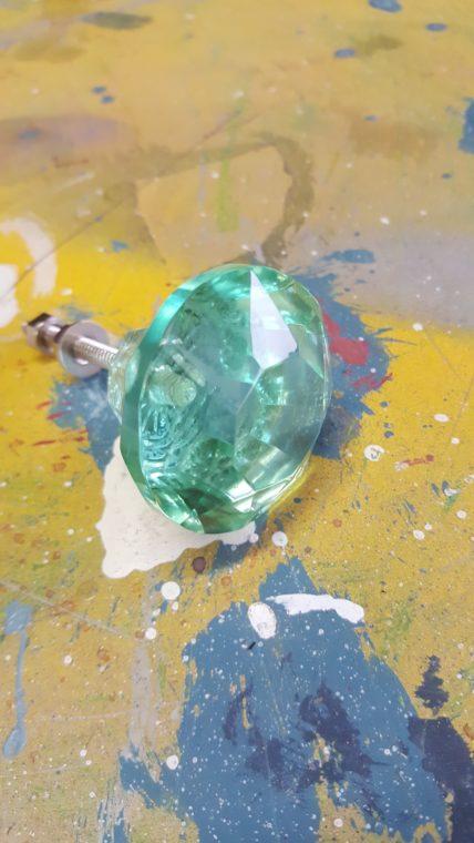 Mint Glass Drawer Knob